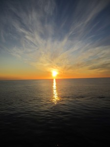 Midnight sun over the Greenland Sea (Photo: Dag Inge Blindheim)