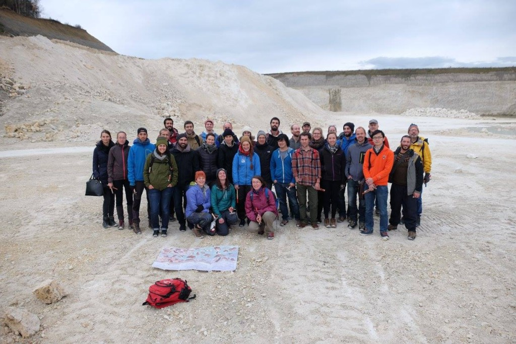 The ICAT PhD's in the limestone quarry at Faxe