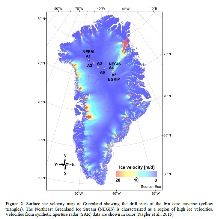 Groenland Ice cores dating